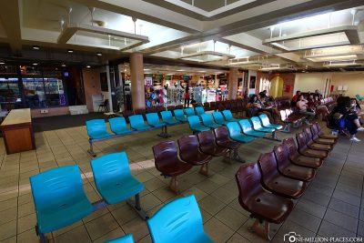 Der Wartebereich des Terminals