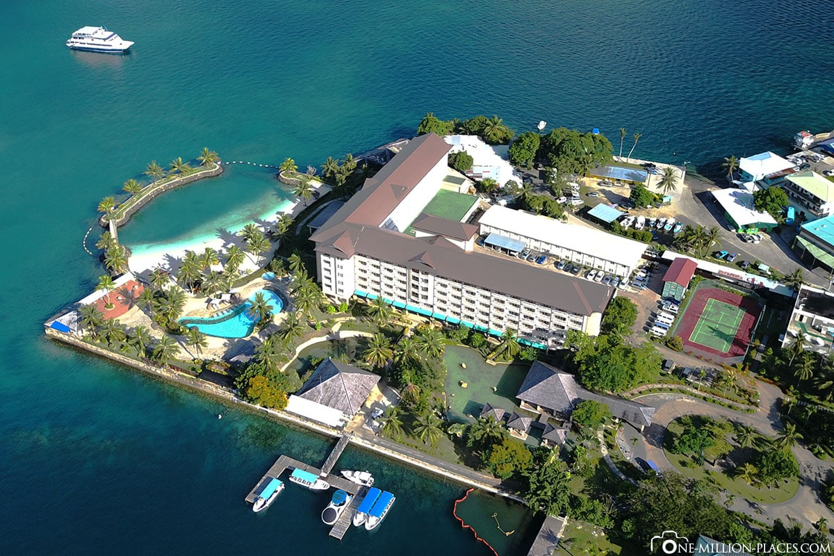 Aerial View, Hotel Palau Royal Resort, Koror, Palau, Micronesia, South Seas, On Your Own, Island Vacation, Travel Report