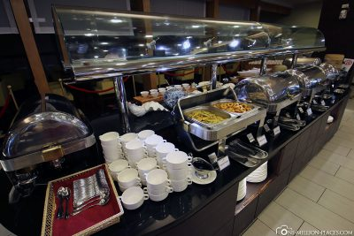 The breakfast buffet
