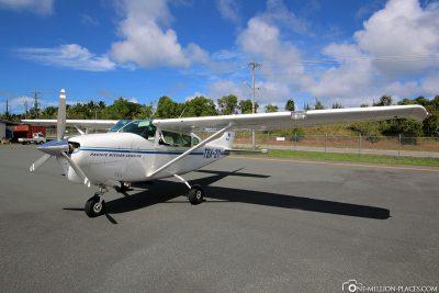 Die Cessna von Pacific Mission Aviation