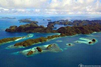 Ein Rock Island in Herzform