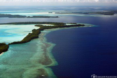 Das schöne Riff in Palau