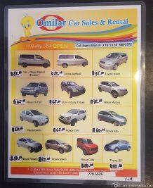 Die Mietwagenpreise in Palau