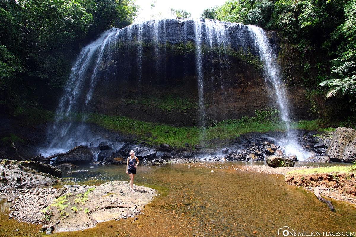Ngardmau Wasserfall, Palau, Insel Babeldaob, Inselrundfahrt, Sehenswürdigkeiten, Auf eigene Faust, Reisebericht