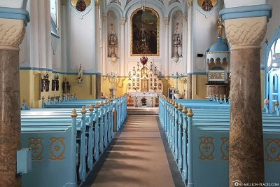 The interior of the Church of St. Elisabeth