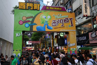 Shopping in the Ximending district
