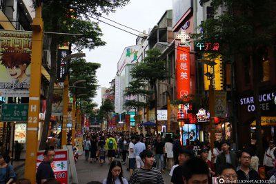 Pedestrian street in Ximending