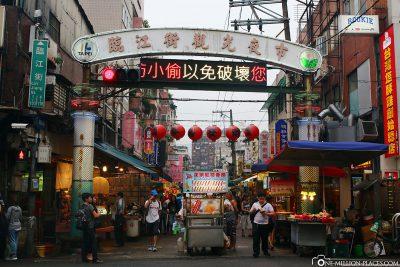 Der Eingang Tonghua Night Market