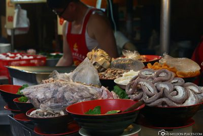 Essenstände am Tonghua Night Market