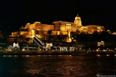 The Castle Palace in Budapest at night