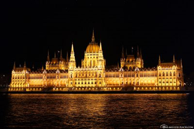The Parliament Building of Budapest at Night