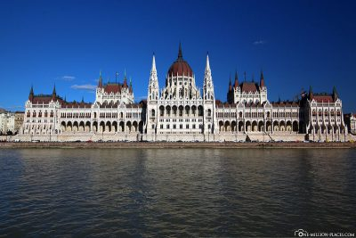 The front view of Parliament