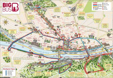 A map of Budapest