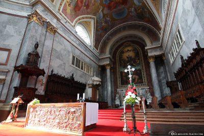 The altar of the basilica