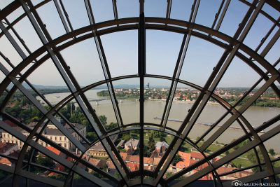 View from the dome to the Danube