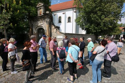 Our tour group in Szentendre