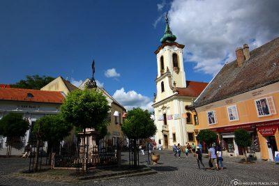 The marketplace in Szentendre