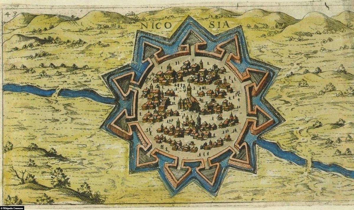 Nikosia, Nicosia, Kartem Map, Stadtmauer