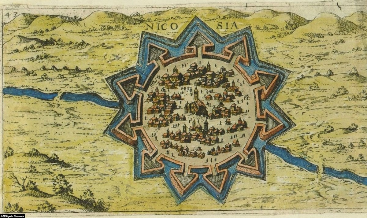 Nicosia, Nicosia, Map Map, City Wall