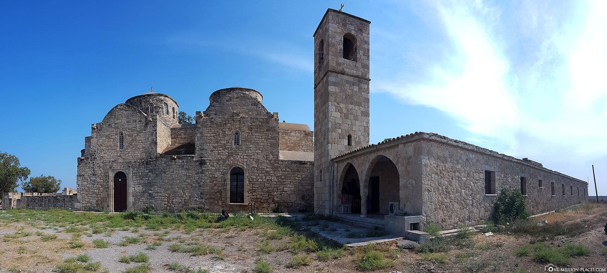 Panoramabild vom St. Barnabas Kloster, Zypern, Ostküste, Sehenswürdigkeiten, Auf eigene Faust, Reisebericht