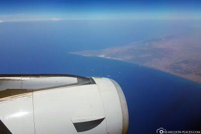 Landing approach to Larnaca