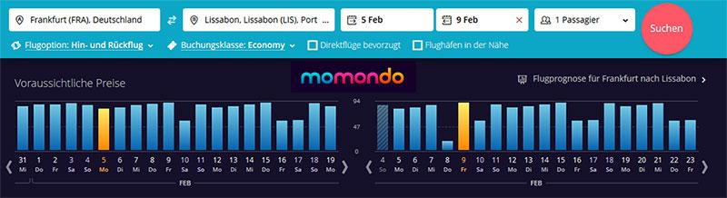 Flugpreise Momondo