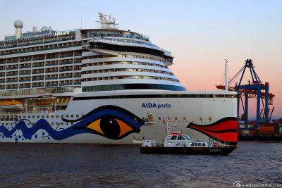 Das Kreuzfahrtschiff von AIDA