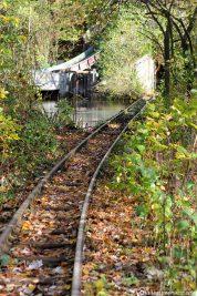 The old rails of the Spreeblitz