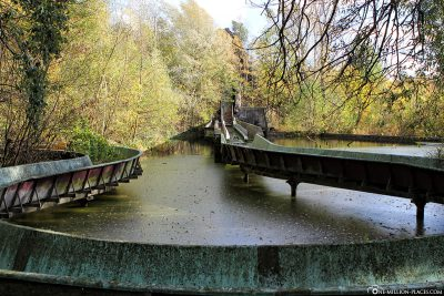 The white water railway in the Spreepark