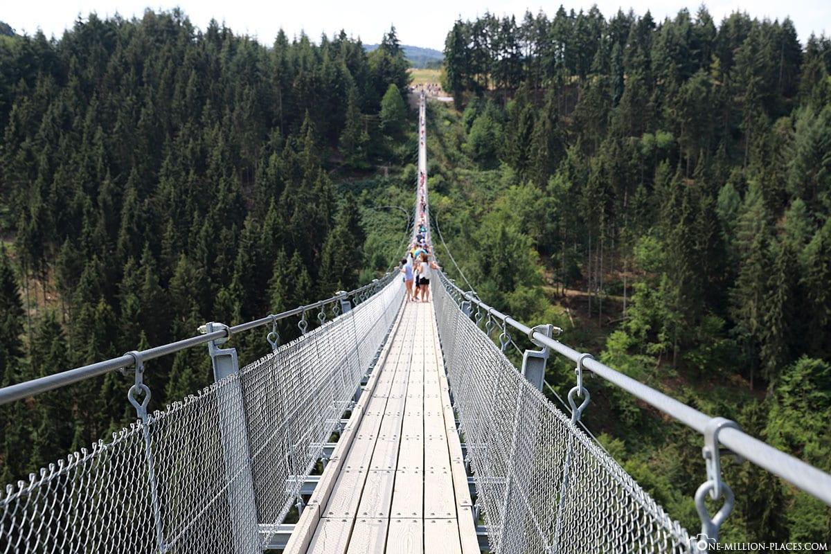 Geierlay   The 20 meter long suspension rope bridge Germany