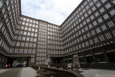 Der Innenhof des Sprinkenhofs