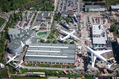 Aerial view of the Technik Museum in Speyer