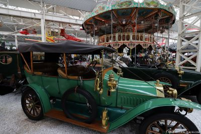 Vehicle exhibition & old carousel