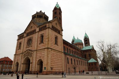 The cathedral of Speyer; View from the southwest