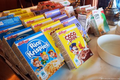 Cereals at breakfast
