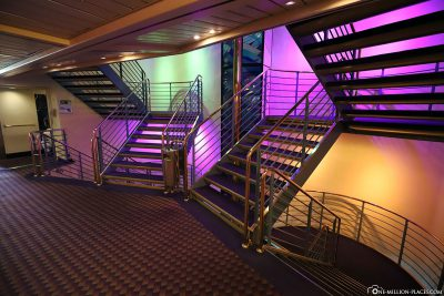Staircase on the ship