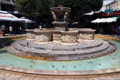 The Lion's Fountain at Platia Venizelou