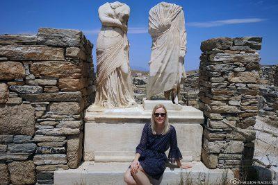 Statuen der Athenerin Kleopatra und ihres Gatten Dioskurides