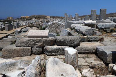 Die Ruinen von Delos