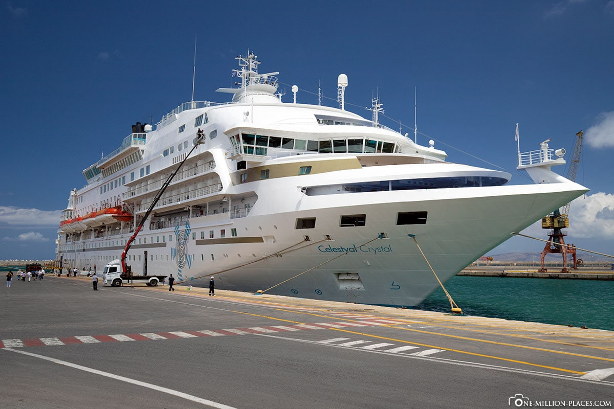 Cruise ship Celestyal Crystal, Crete, Port