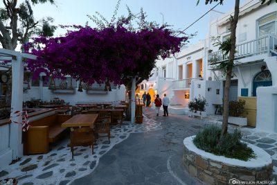 Die Innenstadt von Mykonos Town