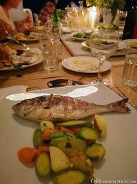 Unser Essen im Restaurant Roca Cookery