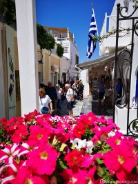 The alleys of the old town of Oia