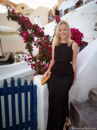 The place Oia on Santorini