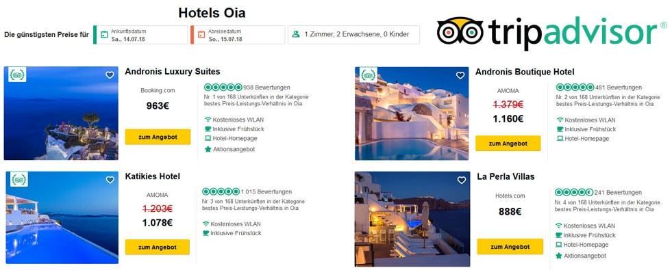Hotelpreise, Oia, Santorini, Teuer, Luxushotels