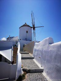 The windmill in Oia on Santorini