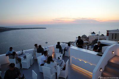 Das Sunsets Restaurant in Oia