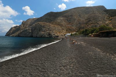 Der Black Beach in Kamari