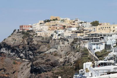 The town of Fira on Santorini