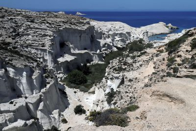 The moonscape Sarakiniko on Milos